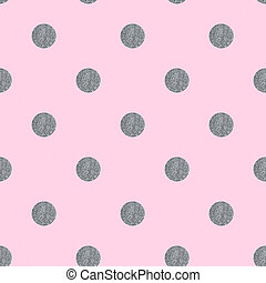 Seamless pattern with grunge dots on a pink background