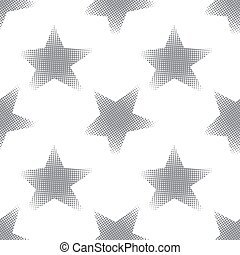 Seamless pattern with halftone stars
