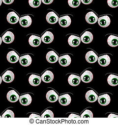 seamless pattern with halloween angry eyes