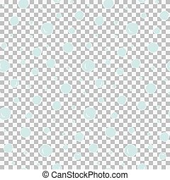 Seamless pattern with hand drawn blue snow circles