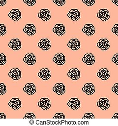 Seamless pattern with hand drawn floral element
