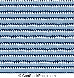 Seamless pattern with hand drawn wavy lines on blue background