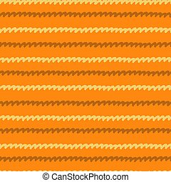 Seamless pattern with hand drawn wavy lines on orange background