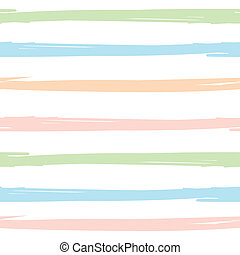 Seamless pattern with hand painted brush strokes, striped...