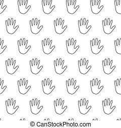 seamless pattern with handbreadth