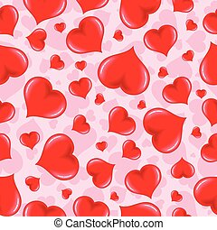 Seamless Pattern with Heart Pink