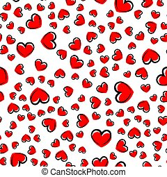 seamless pattern with heart. vector