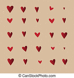 Seamless  pattern with hearts. Vector repeating texture.