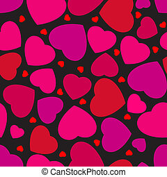 Seamless pattern with hearts. EPS 8