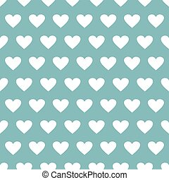 Seamless pattern with hearts on a blue background