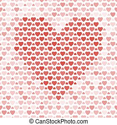 Seamless pattern with hearts on light background