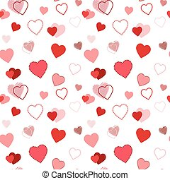 seamless pattern with hearts on white background