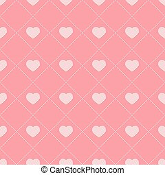Seamless pattern with hearts. Vector illustration.