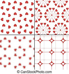 Seamless pattern with hearts. Vector repeating texture. Geometric polka dot