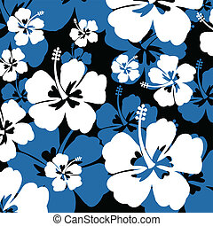 Seamless pattern with Hibiscus flower - Seamless pattern...