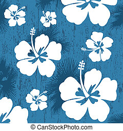 Seamless pattern with Hibiscus flower
