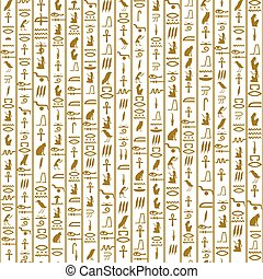 seamless pattern with hieroglyphs