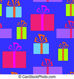 Seamless pattern with holiday boxes