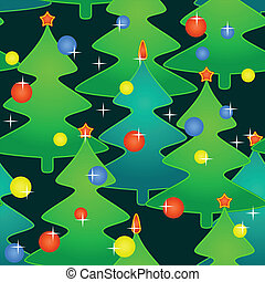 Seamless pattern with holidays christmas-trees