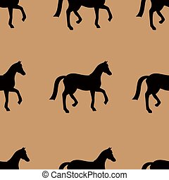 Seamless pattern with horses.