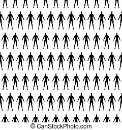 seamless pattern with human silhouette. vector