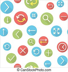 Seamless pattern with icons