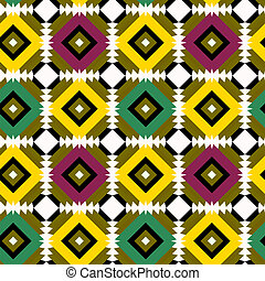 Seamless pattern with indian drawing