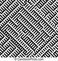Seamless pattern with interweaving of lines