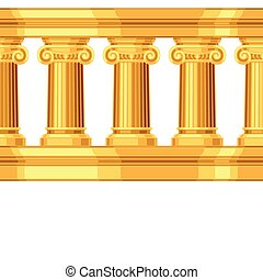 Seamless pattern with ionic antique greek colonnade