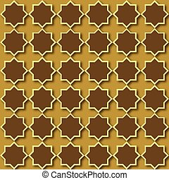 Seamless pattern with islamic ornament. Vector.