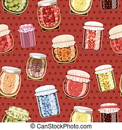 Seamless pattern with jam