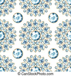 Seamless pattern with jewels 2