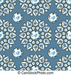 Seamless pattern with jewels 3