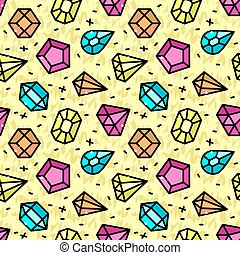 Seamless pattern with jewels, vector illustration