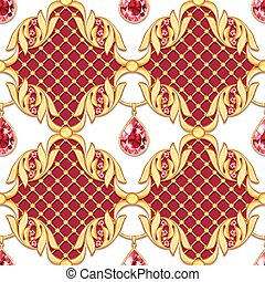 Seamless pattern with jewerly