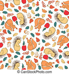 Seamless pattern with kids theme