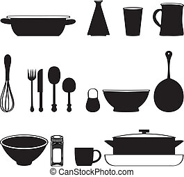 Seamless Pattern With Kitchen Utensils - Kitchen tools icons...
