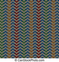 Seamless pattern with knitted motif