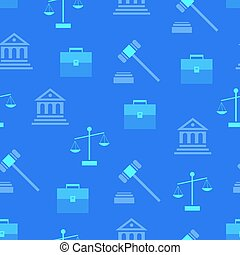 Seamless Pattern with Law Symbols on Background