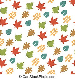 Seamless Pattern with Leaf Background. Vector