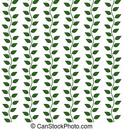 Seamless pattern with leaf, vector illustration