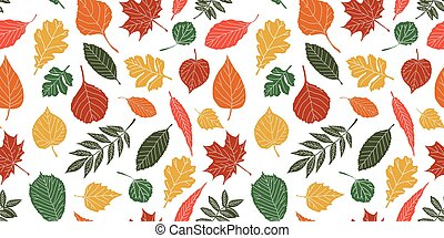 Seamless pattern with leaf,autumn leaf background