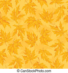 Seamless pattern with leaf,autumn leaf background.