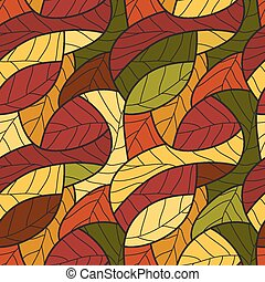 Seamless pattern with leafs. Vector illustration