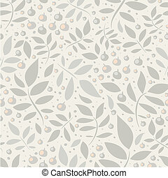 Seamless pattern with leaves and be