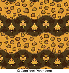 Seamless pattern with leopard skin