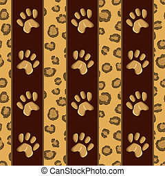 Seamless pattern with leopard skin - vector illustration