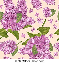 Seamless pattern with lilac