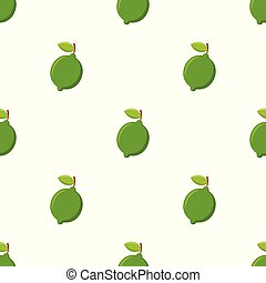 Seamless pattern with lime on white background