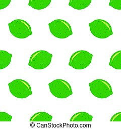 Seamless pattern with limes. Fresh limes background, hand ...